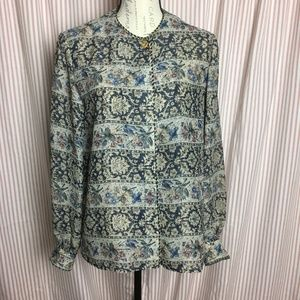 Vintage Maggy London Sheer Blouse Size 10
